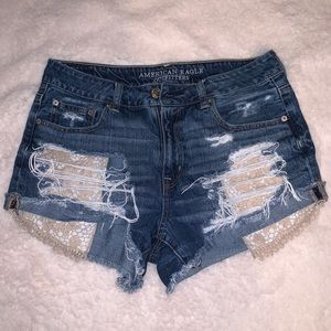 Hi Rise American Eagle Jean Shorts